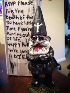 Original hand-painted gnome by Acacia Levin.
