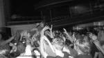 Loïc Rosetti aloft the crowd.